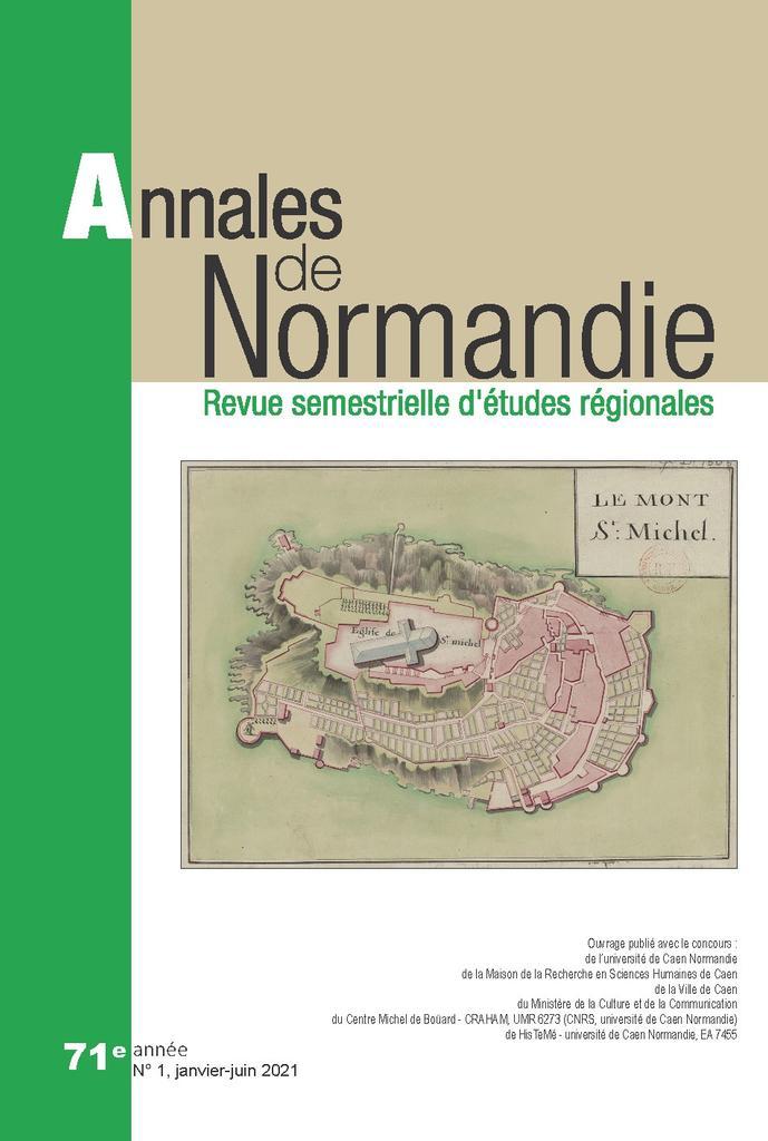 Annales de Normandie. 1, Janvier-juin 2021 |